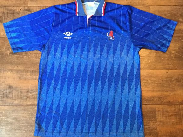 1989 1991 Chelsea Home Fooiball Shirt Adults Medium